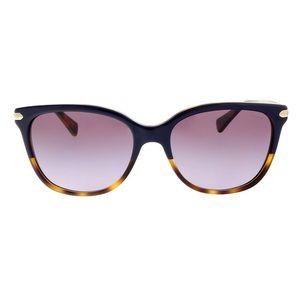 New Coach  Purple Tortoise Cat Eye Sunglasses